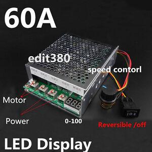 DC 12V 24V 36V 48V 60A 3000W PWM DC Motor Speed Control Controller Programable