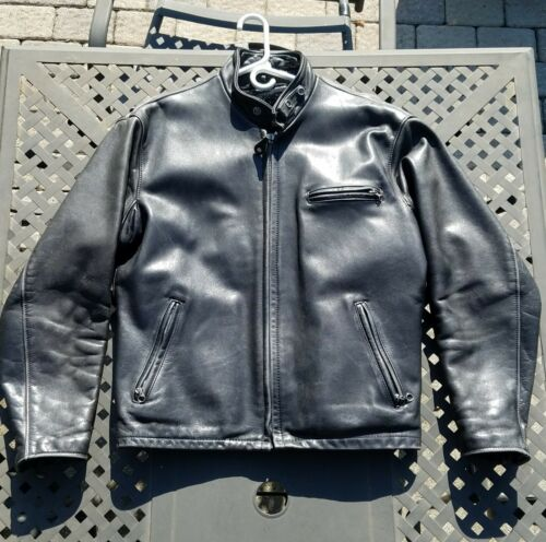 Schott 141 Classic Cafe Racer Leather Motorcycle J