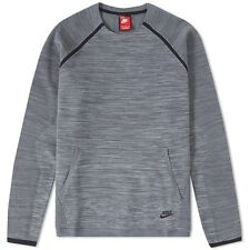 Nike Tech Knit Crew Neck Sweater Sweatshirt Pullover Grey Size M 728673 060