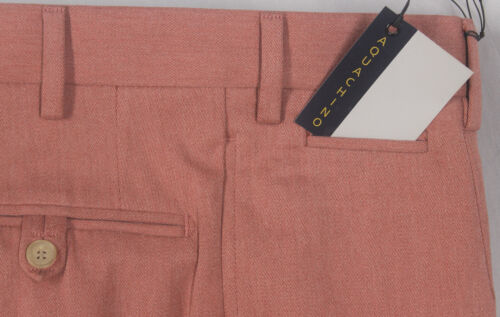 nwt wool 12765 color blend Unusual W34 made Hand salmon bamboo cotton Isaia dark 5AxwB0q