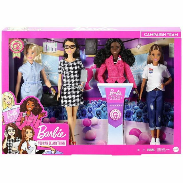 New Mattel Barbie Career of the Year President Campaign Team 2020 Giftset