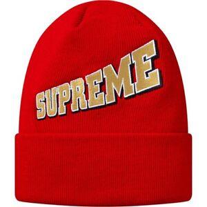 0361a2b356ebc SUPREME Expansion Beanie Red Box Logo camp cap pom knit hoodie F W ...