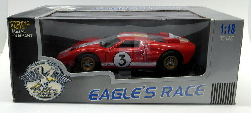 Eagles Race 1 18 Scale - 174002 Ford GT40 Red   White Le Mans model car