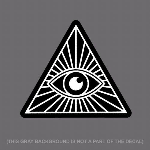 "All Seeing Eye Illuminati NWO Vinyl Decal Sticker 4/"" Digital Print"