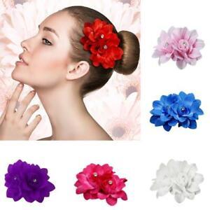 Damen-Ansteckblume-Haarspange-Haarklammer-Rose-Blume-Bluete-Haarclip-Brautjungfer