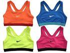 Nike Womens Pro Classic Medium Support Sports Bra Orange/Volt/Blue/Pink New