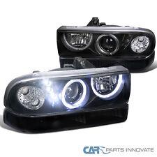 98-04 S10 Blazer Halo SMD LED Projector Headlights Black w/ Bumper Lamps