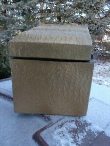 Details about Vintage Gold Salesman Sample Funeral Burial Vault - Coffin  Casket Undertaker
