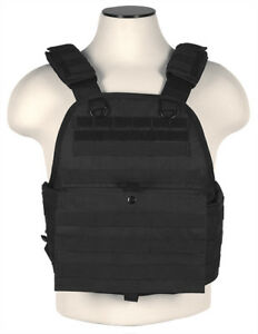 NcSTAR Airsoft Tactical Plate Carrier Vest w/ PALS Webbing Black CVPCV2924B
