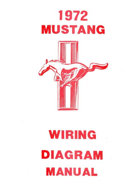 1972 72 Mustang  Mach 1 Wiring Diagram Manual