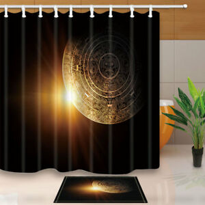 Image Is Loading Maya Culture And Sunshine In Dark Bathroom Fabric