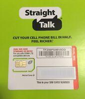 Straight Talk Verizon 4g Lte Compatible Mini/micro Sim Card