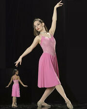 Evening Shade Dance Costume PINK Lyrical Ballet Dress Clearance Child Large