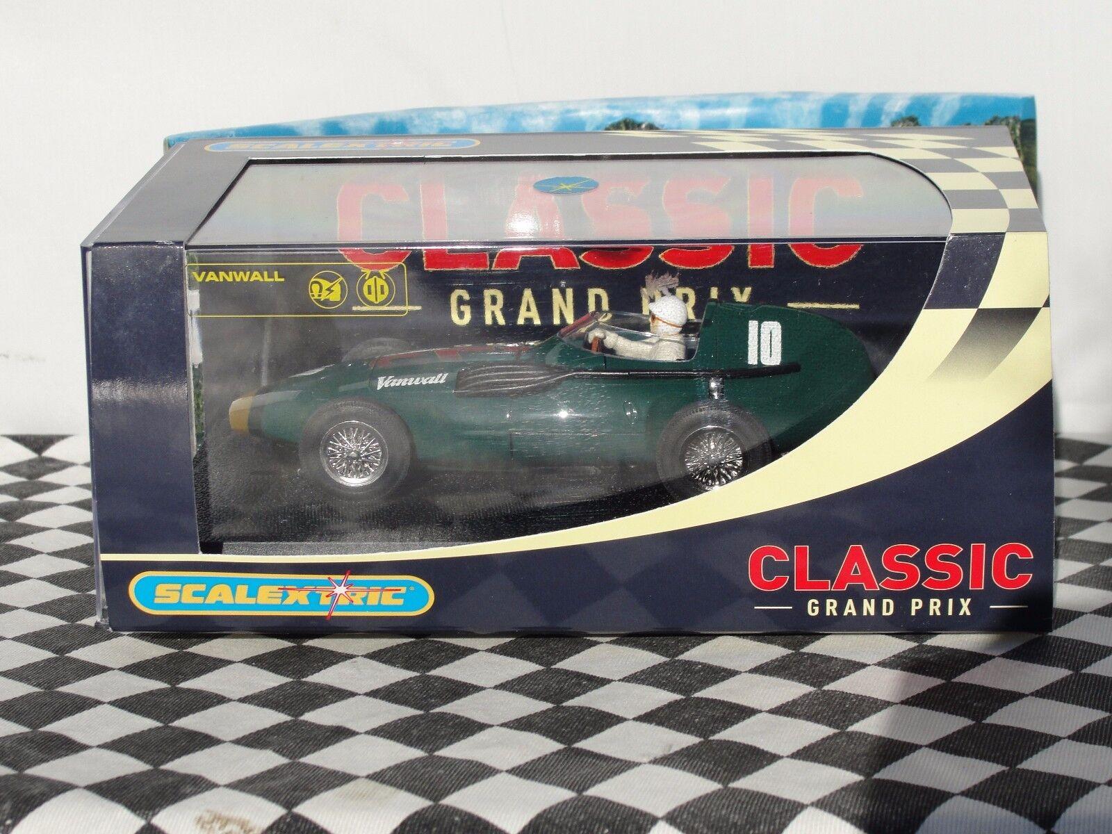 SCALEXTRIC VANWALL F1 1957 GREEN C2552 1 32 SLOT BNIB