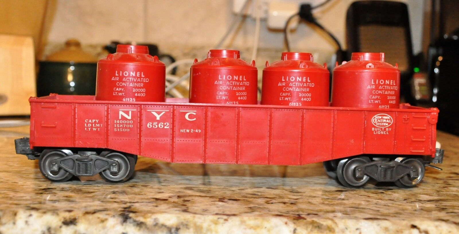 Lionel 6562 rosso NYC Góndola Con rosso botes