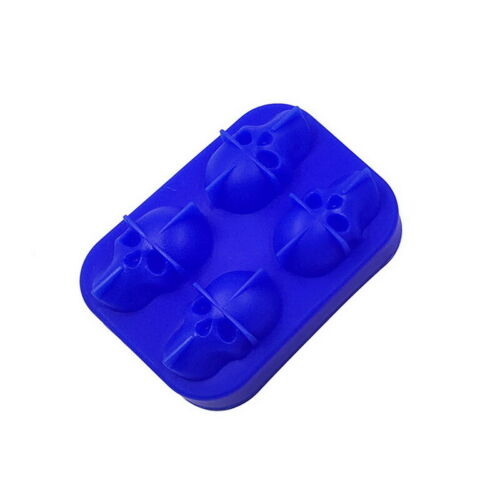 3D Ice Cube Tray Mold Skull Shape  Party Silicone Trays Chocolate Mould Gift D//S