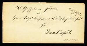 551920) Prussia vorphilablg. con l2 stpl. Coesfeld