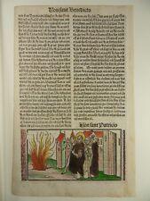 HEILIGER PATRICIUS PATRICK INKUNABEL HOLZSCHNITT GRÜNINGER 1510 WOODCUT J37