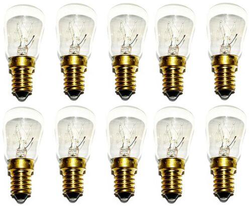 10 x Microwave Oven Appliance Fridge 25w Watt SES E14 Pygmy Screw in Light Bulbs