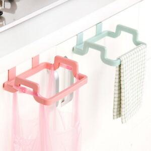 Garbage Bag Holder Plastic Bracket  Kitchen Trash Storage Hanger Tools