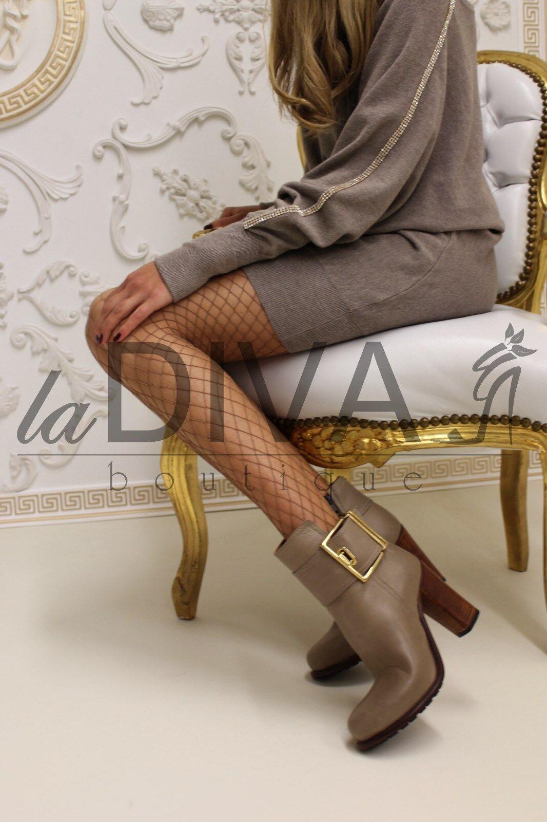 NAPOLEONI   Leder Stiefel Stiefelette OVP 36 taupe braun %SALE% OVP Stiefelette 219,- 65b3b8