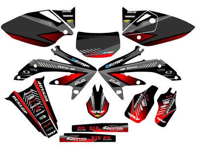 Senge Graphics 2005-2007 Honda CRF 450R Surge Black Graphics kit