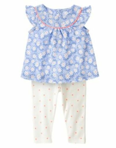 NWT Gymboree The Daisy and the Tiger Daisy Top Dots legging Set Baby Toddler