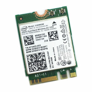 Intel Dual Band Wireless AC 3165 3165NGW 433Mbps BT 4.0 WLAN Card MHK36 For Dell