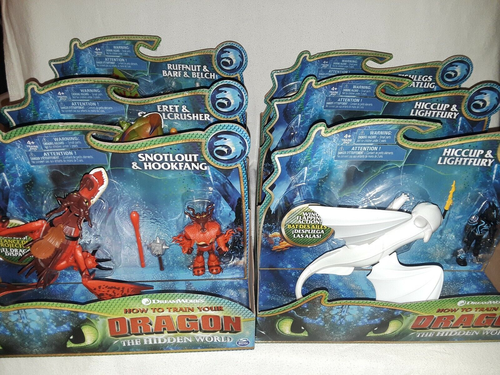 How To Train Your Dragon The Hidden World  Lot of 6 Dragons & Vikings Dreamworks