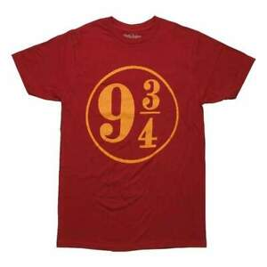 Officiel-Sous-Licence-HARRY-POTTER-Plate-forme-9-3-4-tee-shirt-Homme-Rouge