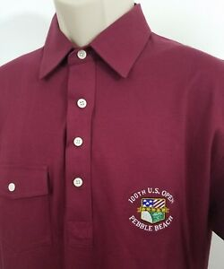 U-S-open-Pebble-Beach-Polo-shirt-Izod-Club-size-medium-1470