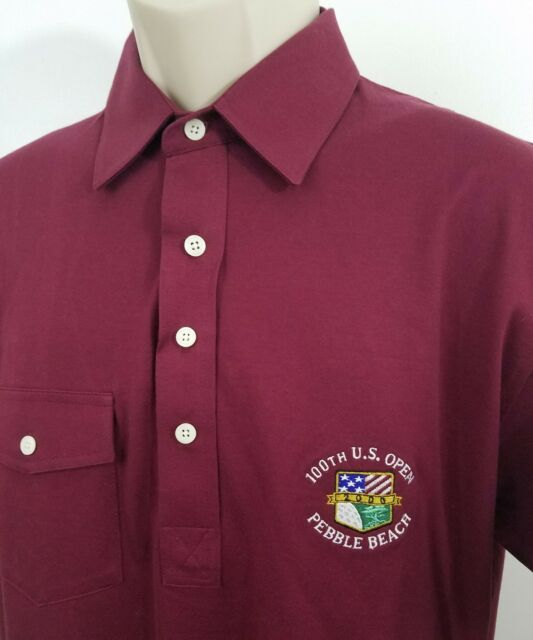 U.S. open Pebble Beach Polo shirt Izod Club size medium 1470