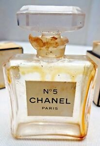 7ea4bf86 Details about VINTAGE PERFUME BOTTLE CHANEL No 5 MADE IN FRANCE  COLLECTIBLES GLASS MINIATURE