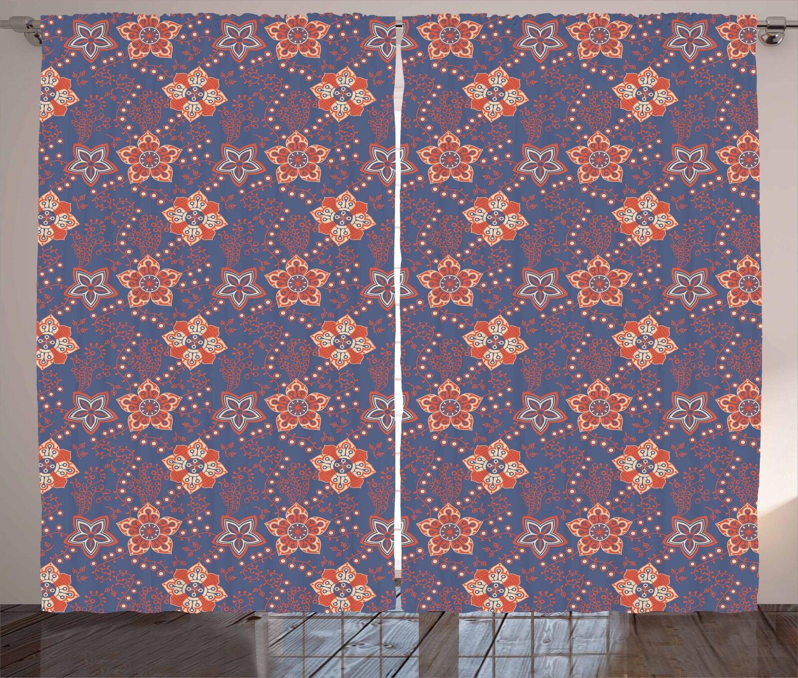 Vintage Garden Curtains 2 Panel Set Decoration 5 Dimensiones Window Drapes