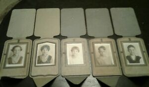 Lot-of-5-Vintage-Old-Pictures-Photos-Cardboard-Frame-Professional-Liberty-Art-Co