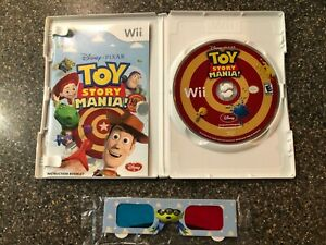 TOY-STORY-MANIA-Nintendo-Wii-Complete-with-Case-Manual-amp-NEW-3D-Glasses