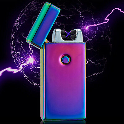 Lighter Rechargeable Plasma Windproof USB Electric Flameless Dual Arc Cigarette