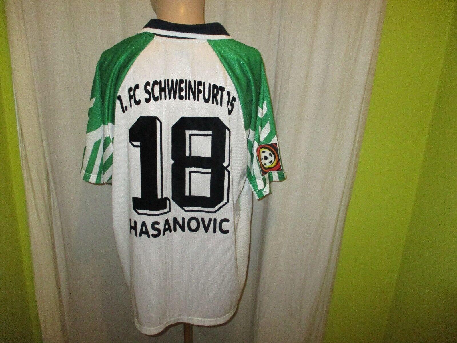 1.FC 1.FC 1.FC Schweinfurt 05 hummel Matchworn Trikot 2001 02 + Nr.18 Hasanovic Gr.XXL  | Export  a6499b