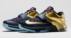 Nike KD 7 VII PRM Gold Medal Size 9.5. 706858-476 jordan bhm what the all star