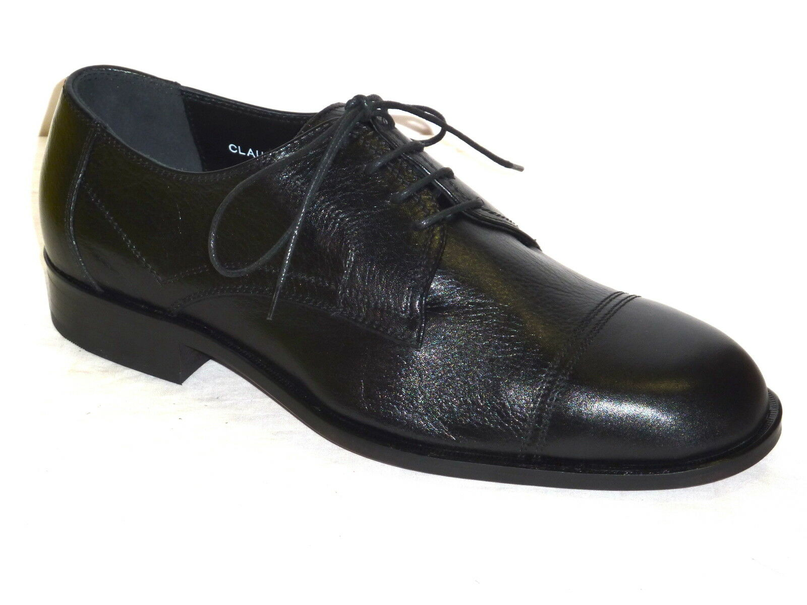 4728 VALLEgreen shoes men CLASSICHE ALLACCIATE PELLE black MODA COMODA n. 43