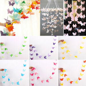 Image Is Loading Butterfly Hanging Paper Garlands Wedding Party Birthday Baby