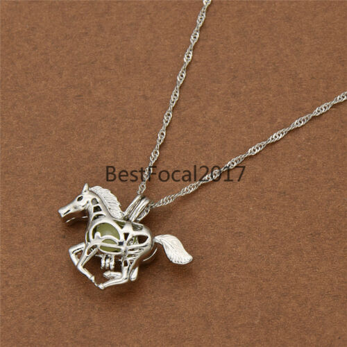 Hollow out Horse Luminous Luminous Necklace Cool Jewelry Women/'s Gifts Fashion
