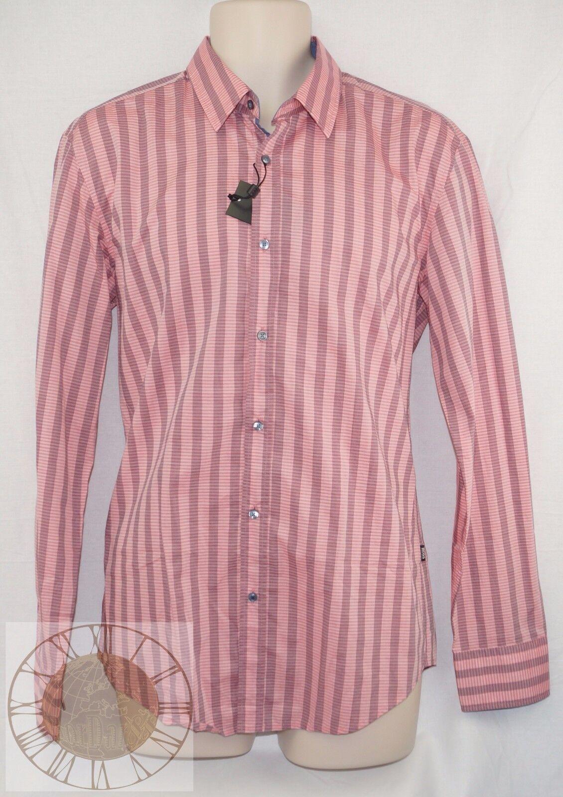 Hugo Boss  Ronny  Mens Striped Button Down Shirt Size 2XL (50259136 645), NWT