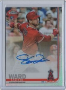 2019 Topps Chrome Taylord Ward RC /499 REFRACTOR AUTO + 1 OTHER CARD