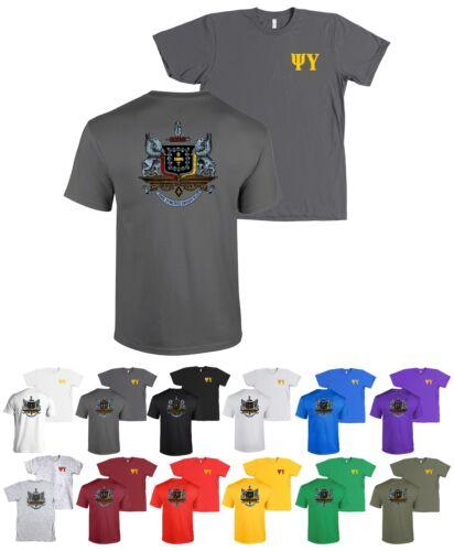 Canvas Shirt Psi U Tee NEW Psi Upsilon Fraternity Crest Bella