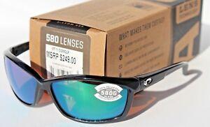 a606586e037 Image is loading COSTA-DEL-MAR-Manta-POLARIZED-Sunglasses-Shiny-Black-
