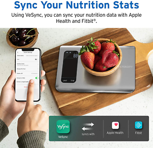 Smart Food Nutrition Scale Bluetooth Fit Bit Apple Health Digital Scale for Diet