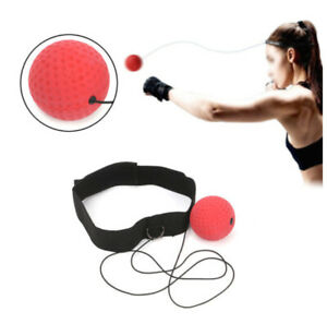 Fight Ball Head Band Speedball Punch Exercise Fight Reflex Speed Test