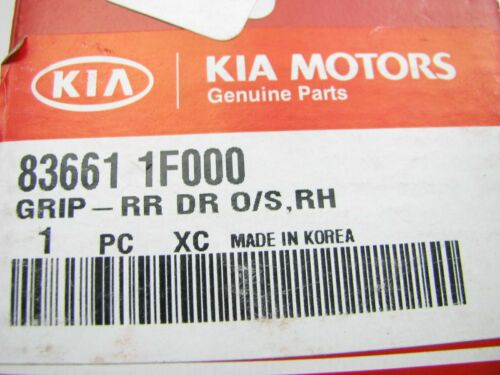 New OEM Rear Right Outside Black Door Handle For 07-10 Kia Sportage 836611F000