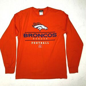 Denver-Broncos-Shirt-Men-039-s-Size-Medium-Long-Sleeve-NFL-Football-Crew-Neck-Tee
